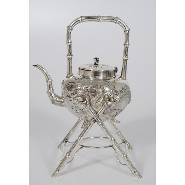 24: Chinese Export Silver Teapot