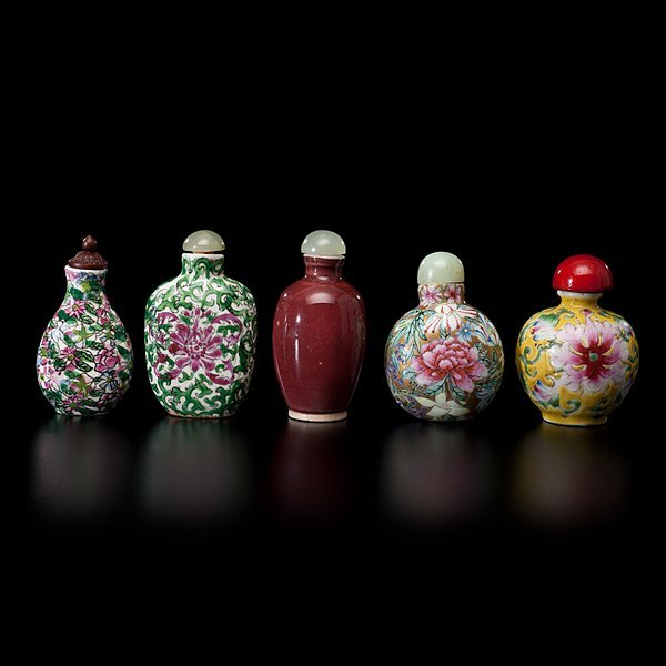 1005: Chinese Porcelain Snuff Bottles