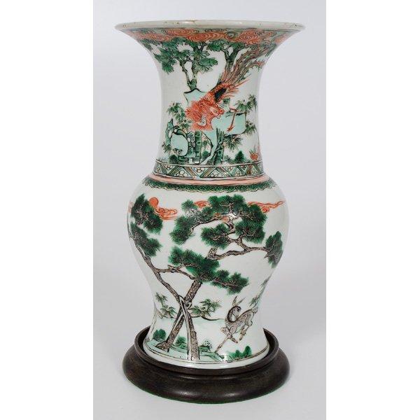 1021: Chinese Baluster-Form Vase
