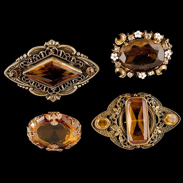 5: Austrian Group of 4 Brooches