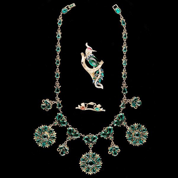 15: Austrian Brooch and Necklace