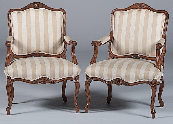 3: Louis XV-style Armchairs