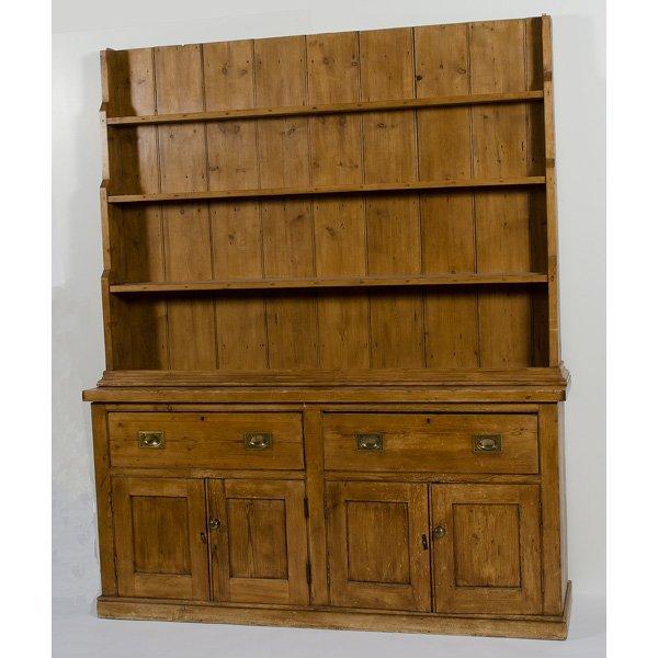 24: Provincial Pine Stepback Cupboard