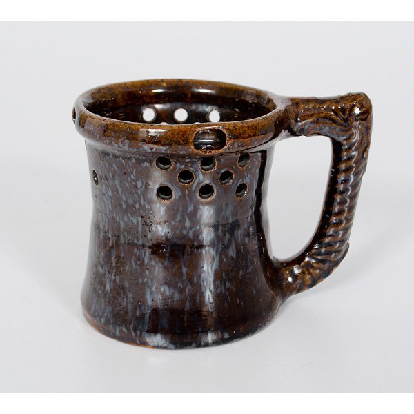 112: George Ohr Puzzle Mug with Floral Handle