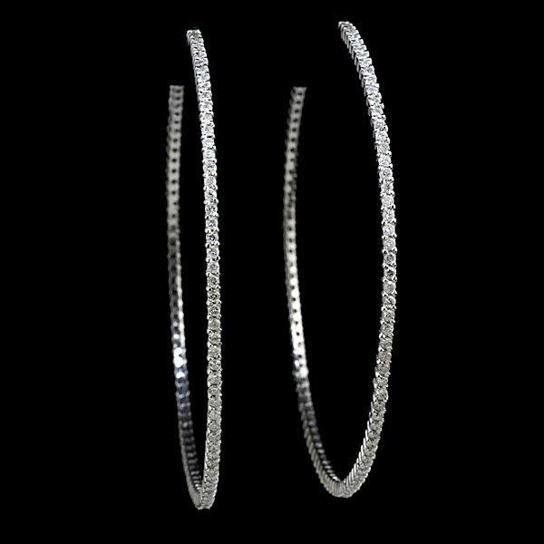 1: 14k Diamond Hoop Earrings