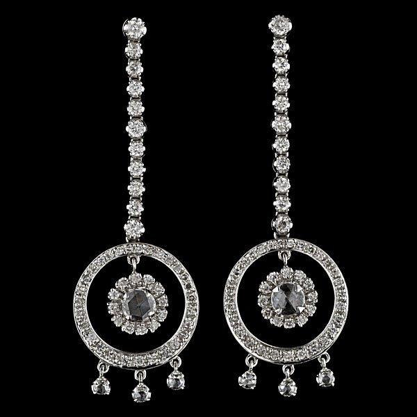 2: 18k Rose-Cut Diamond Drop Earrings