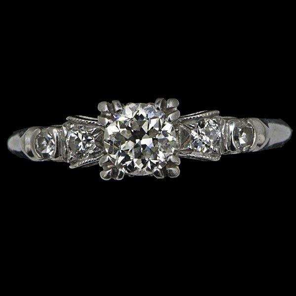3: Vintage Platinum Engagement Ring