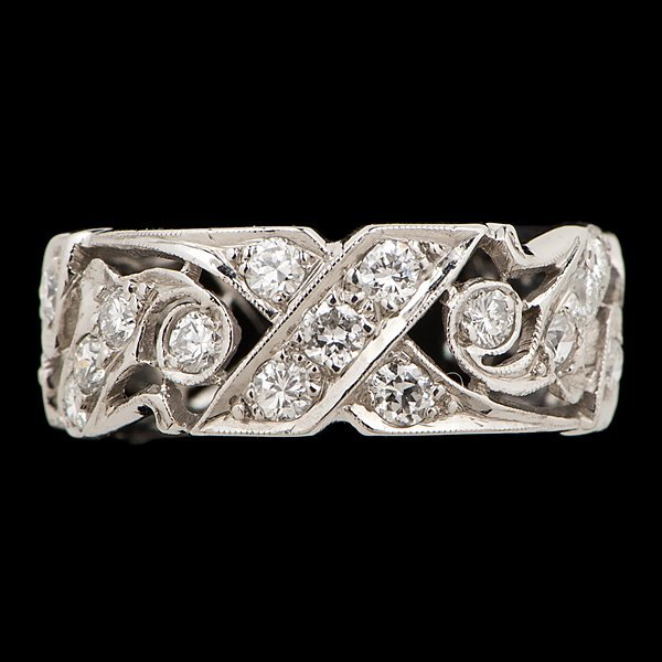 6: 14k Filigree Diamond Eternity Ring