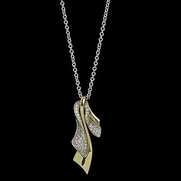 9: 18k Diamond Pendant with Chain
