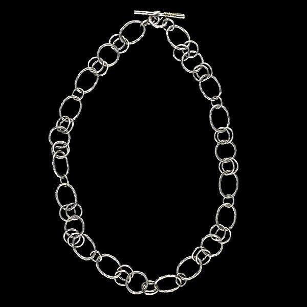 313: Ippolita Hammered Sterling Link Necklace