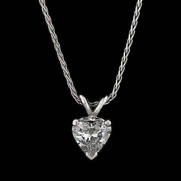 11: 14k Diamond Heart Pendant