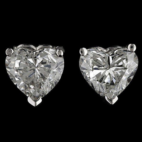 12: 14k Heart-Shaped Diamond Stud Earrings
