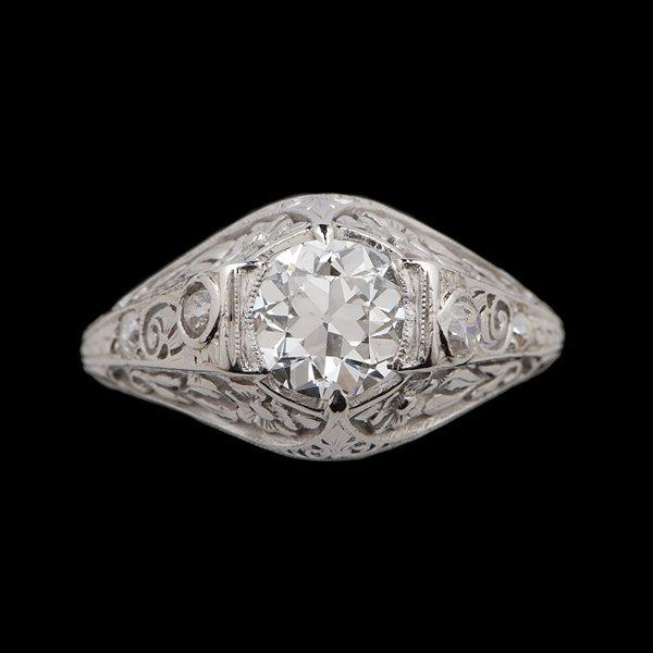 18: Art Deco Platinum and Diamond Engagement Ring