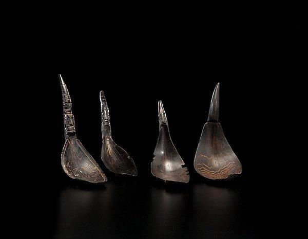 5: Northwest Coast Carved Horn Spoons