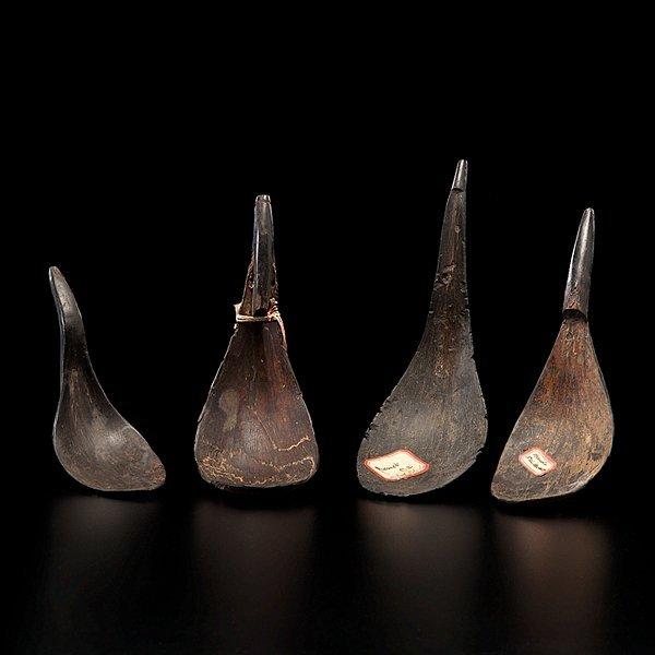 6: Haida Mountain Goat Horn Spoons