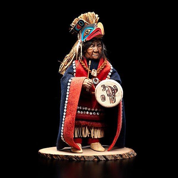 9: Shona Hah Kwakwaka'wakw Carving of a Shaman