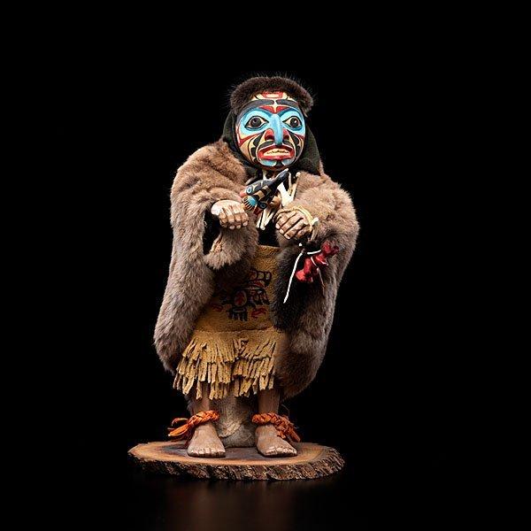 11: Shona-Hah Kwakwaka'wakw Carving of a Shaman