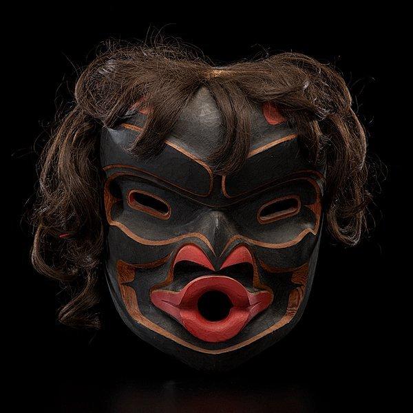 14: Tony Hunt Jr. Kwakwaka'wakw Carved Mask Kwagiulth W