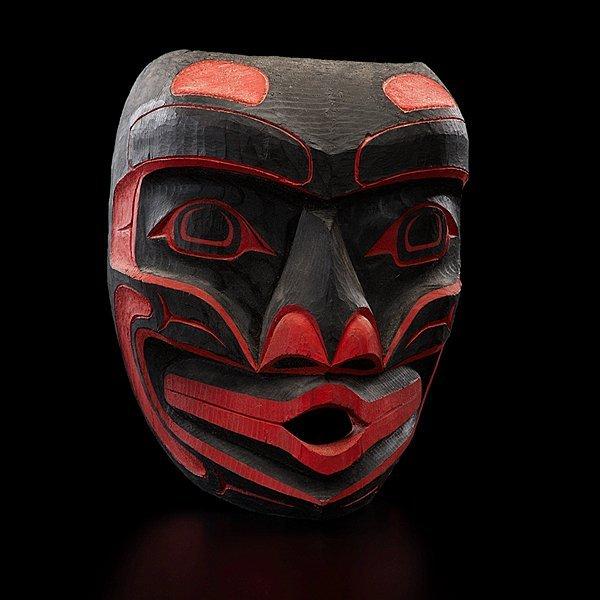 16: Stanley C. Hunt Kwakwaka'wakw Carved Mask Wild Woma
