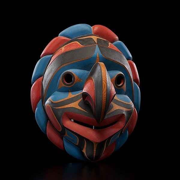 18: John Livingston Kwakwaka'wakw Carved Mask Kwakiutl