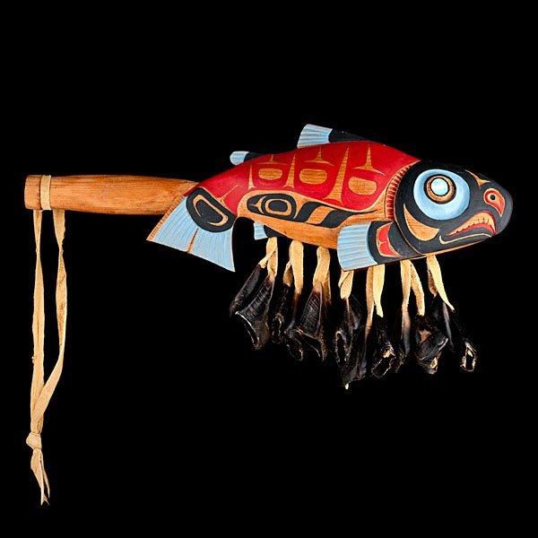 19: Don Lelooska Kwakwaka'wakw Salmon Rattle