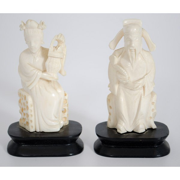 5: Chinese Ivory Scholar Carvings