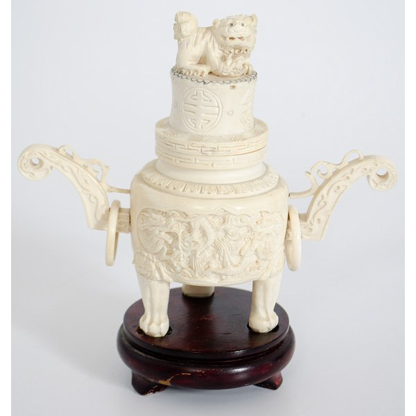 6: Chinese Carved Ivory Censor