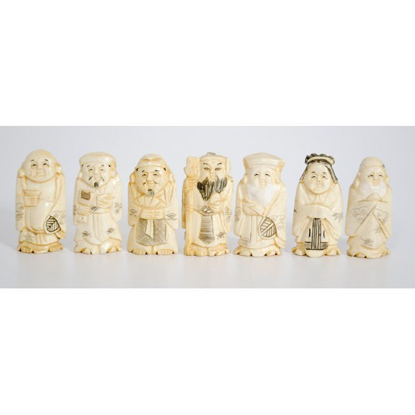 14: Japanese Ivory Carved Figures