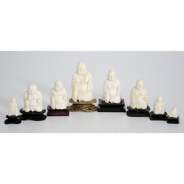 15: Chinese Ivory Buddha Carvings