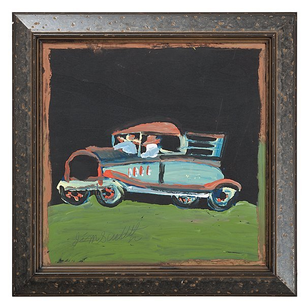 6: Automobile by Jimmy Lee Sudduth, Folk Artist