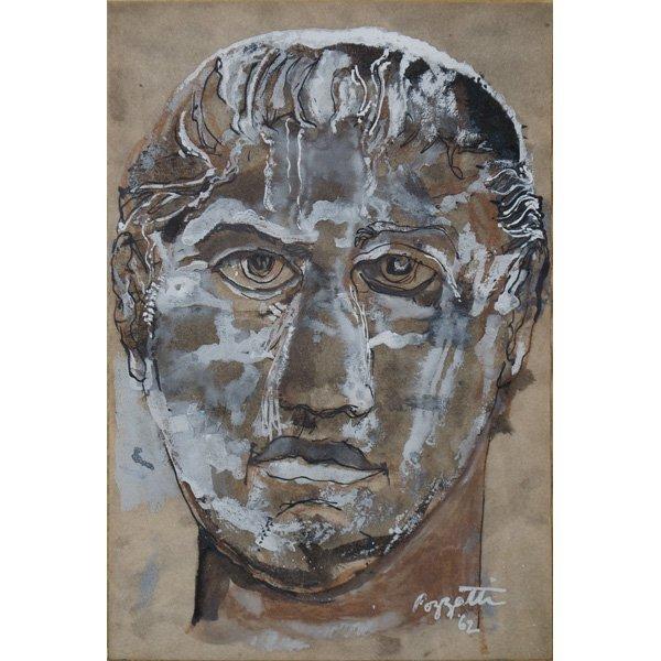 12: Etruscan Head by Rudy Pozzati