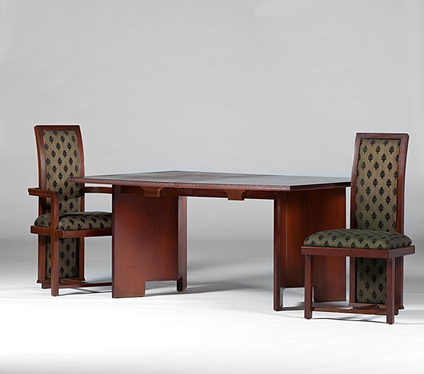14: Frank Lloyd Wright Dining Table