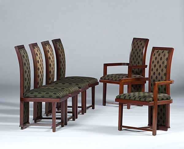 15: Frank Lloyd Wright Dining Chairs