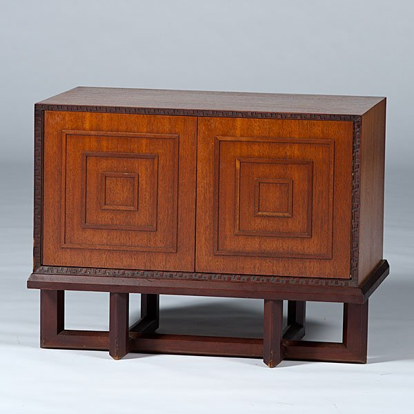 21: Frank Lloyd Wright Chest On Stand