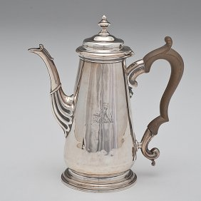 George II Sterling Coffee Pot�