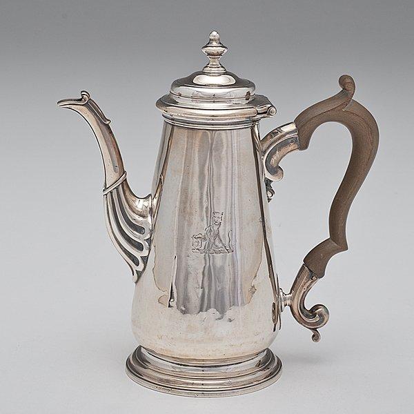 5: George II Sterling Coffee Pot