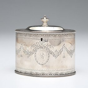 George III Sterling Tea Caddy�