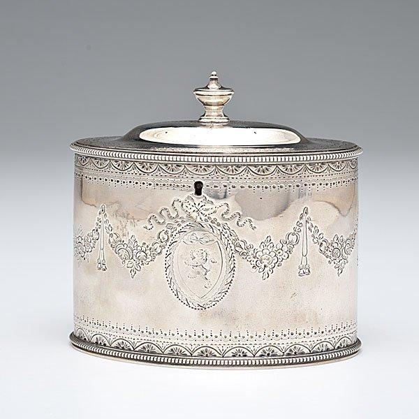 8: George III Sterling Tea Caddy
