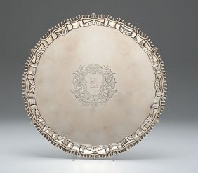17: English Sterling Salver