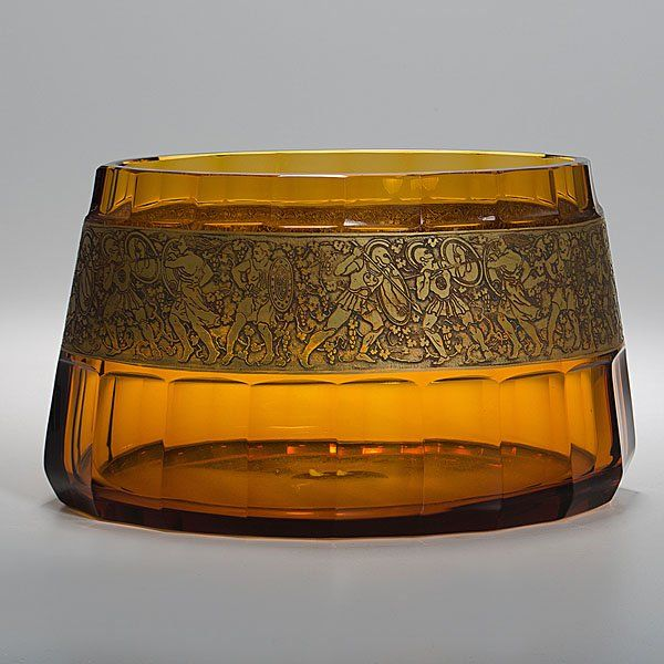 85: Moser Amber Glass Vase