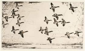 Over Currituck Marshes by Frank Weston Benson