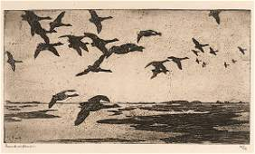 Geese Against the Sky by Frank Weston Benson