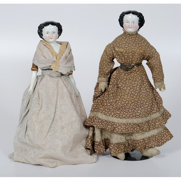 2: Large Porcelain Head Dolls