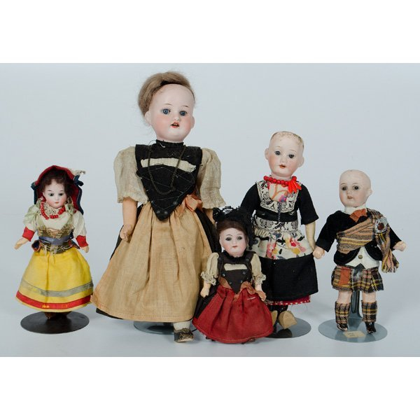 8: German Bisque Costumed Dolls