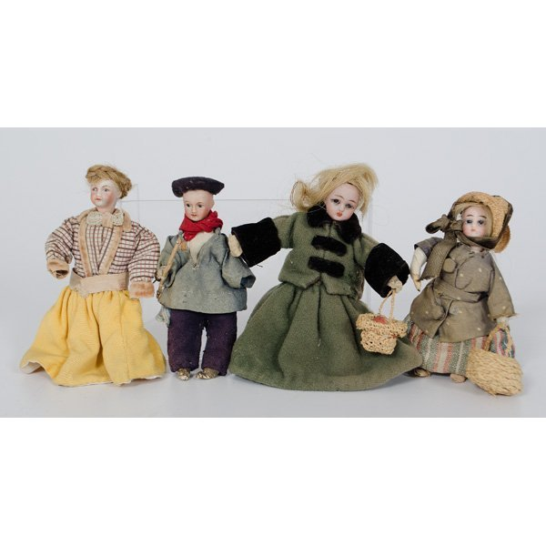 16: Miniature German Bisque Dolls