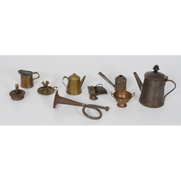 24: Child's Copper and Tin Accessories