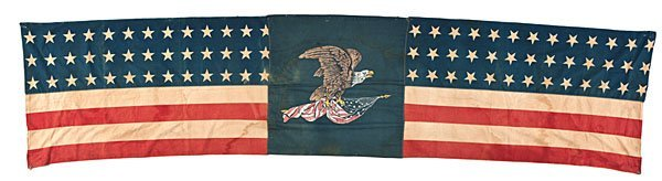 76: 39-Star American Flag Banner Featuring Eagle