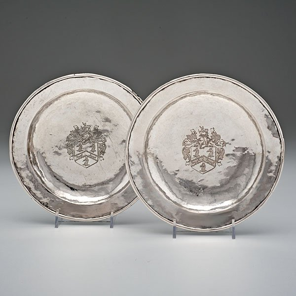 British Colonial Sterling Service Plates