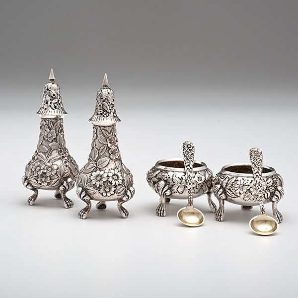 Sterling Pepper Shakers, Salts and Salt Spoons