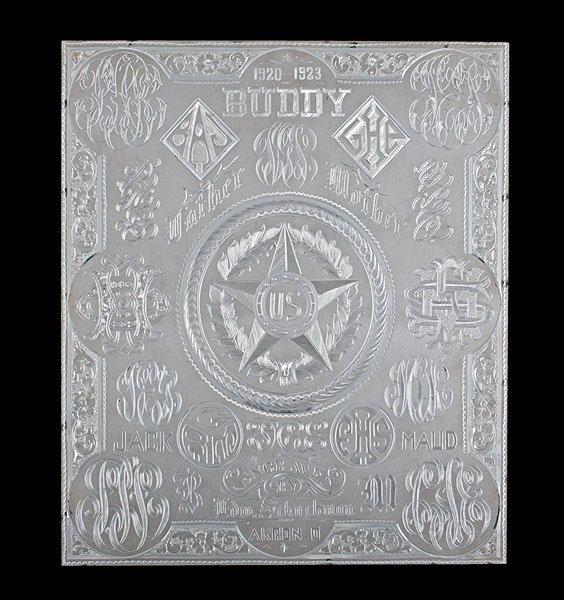 Sterling Silver Master Engraving Work Sample